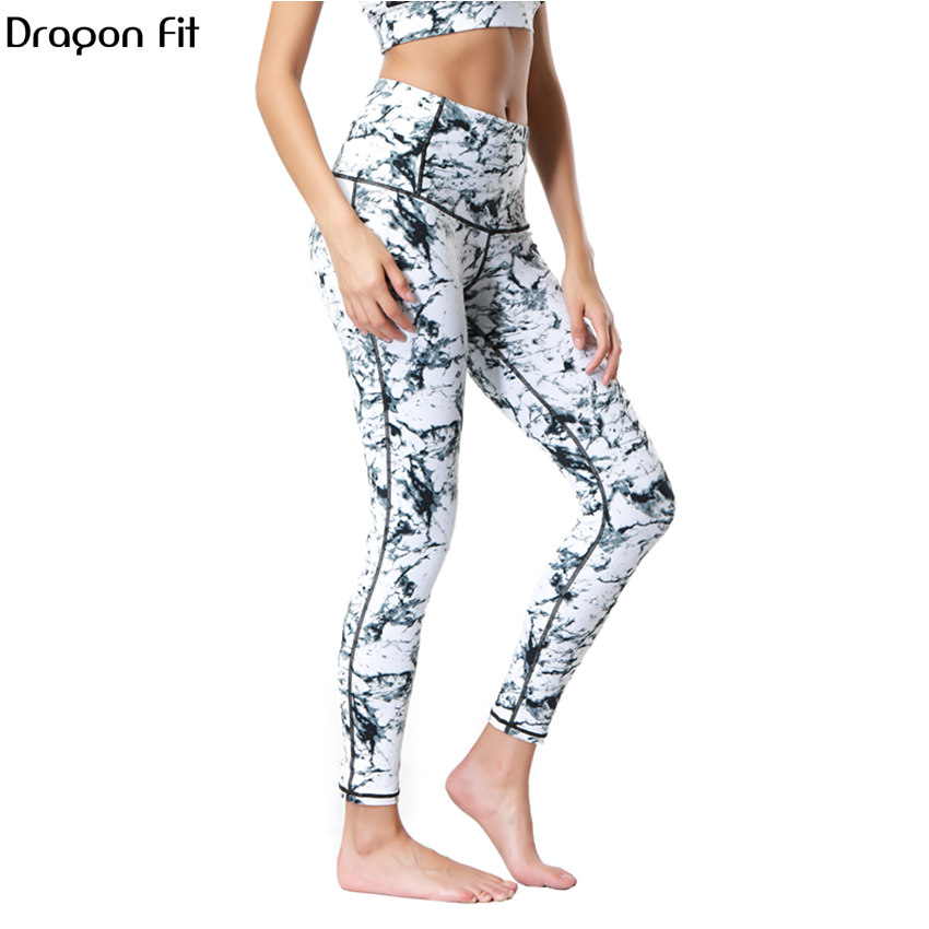 Dragon Fit Breathable Print Yoga Pants Quick Dry Sport Pants Women Fitness Gym Running Trousers Sportswear Tights Yoga Leggings Лосины