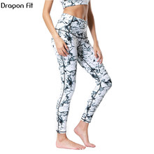 Dragon Fit Breathable Print Yoga Pants Quick Dry Sport Pants Women Fitness Gym Running Trousers Sportswear Tights Yoga Leggings women high waist tights gym running dry quick leggings sportswear yoga pants women s leggins mesh capris sport fitness trousers