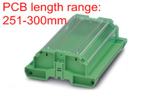 UM122 profiel met cover 251 300mm PCB behuizing, PCB din rail, PCB carrier, PCB besturingskaart houder