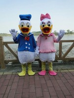 Yüksek kaliteli yetişkin boyutu Donald Duck Maskot Kostüm satış Donald ve Daisy Maskot Kostüm Ücretsiz Kargo
