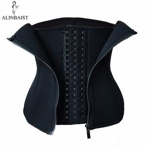 Image 3 - Women Sweat Waist Trainer for Weight Loss 9 Spiral Steel Boned Slimming Belt Fat Burning Body Shaper Waist Cincher Shapewear