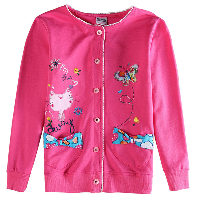 2016 new kids clothes girl baby cute cartoon cotton causal coat baby clothing retail children jacket nova kids baby clothes