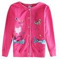 2016 nuevos niños ropa de la muchacha del bebé lindo de la historieta de algodón causal escudo bebé clothing chaqueta de los niños al por menor nova niños ropa de bebé