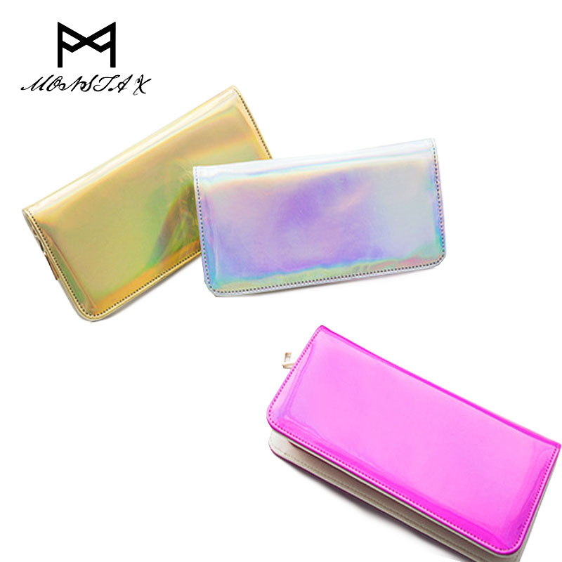 2017 New Hologram Zipper Clutch Wallet Women Long Wallets Money Purse Female Slim Wallet Organizer Card Holder Phone Coin Purse large capacity women wallet leather card coin holder money clip long clutch phone wristlet trifold zipper cash female purse
