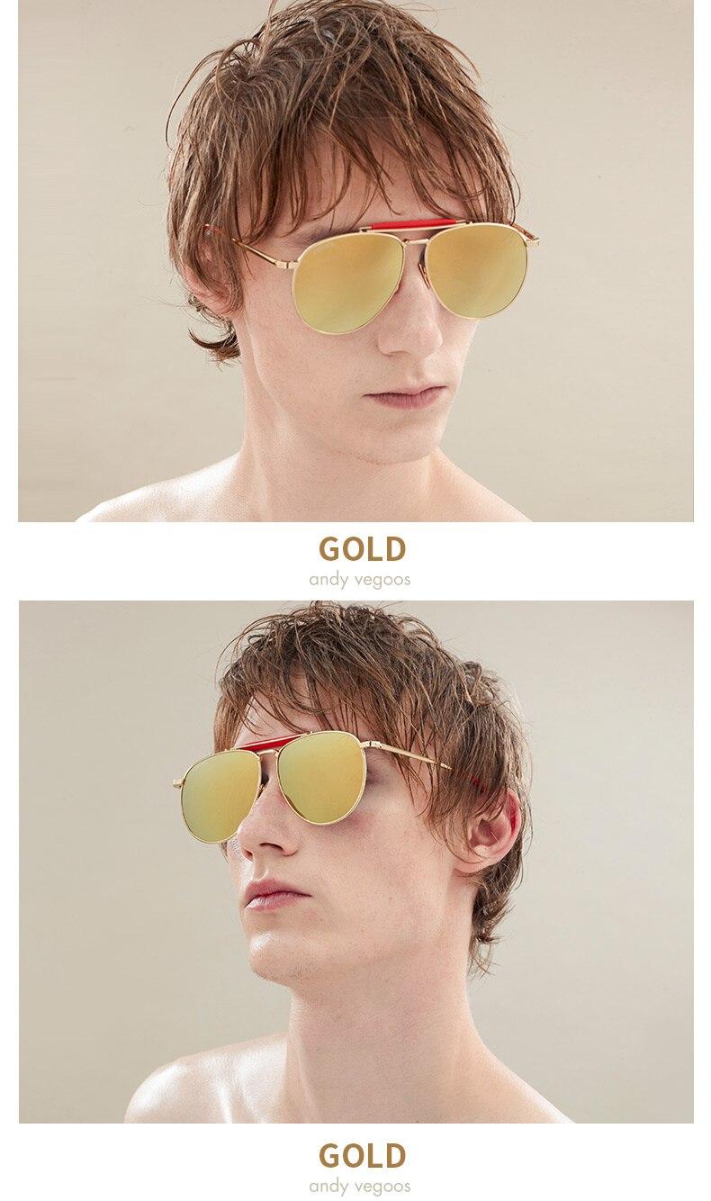27dd2a09204bb VEGOOS Polarizados Verdadeira Pilotos Óculos De Sol Novo Homem Mulheres  Shades Espelhado Lens Piloto Eyewear Dos Homens Designer de Marca Original  Masculino