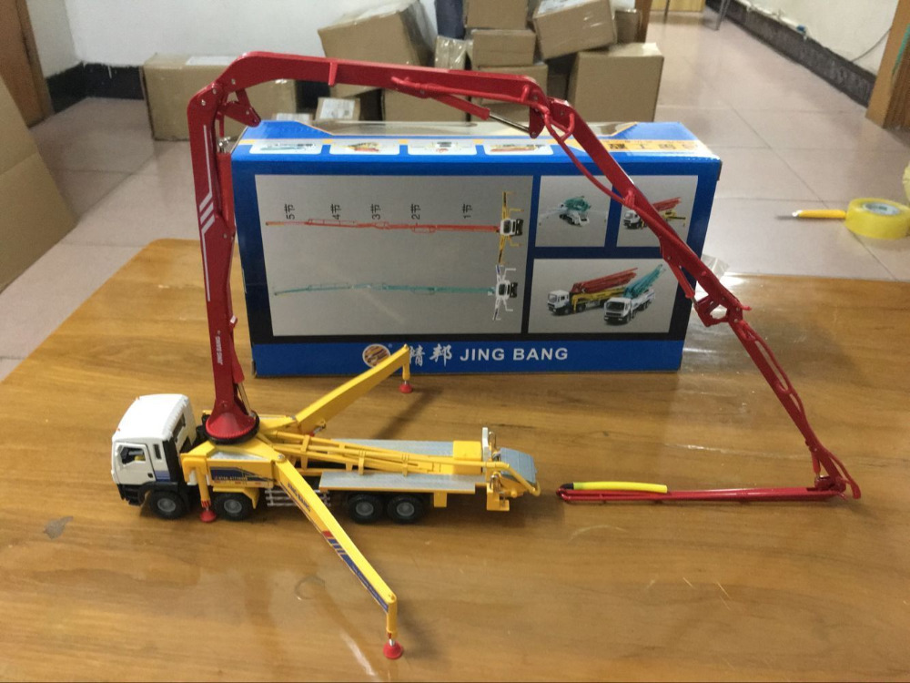 *NEW* Construction Vehicle Concrete Pump Truck 1/50 Scale Die-Cast Metal Model new weise toys 1 32 scale die cast metal model 1033 mb trac 900 turbo