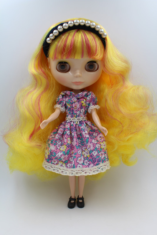купить Free Shipping big discount RBL-258DIY Nude Blyth doll birthday gift for girl 4colour big eyes dolls with beautiful Hair cute toy дешево