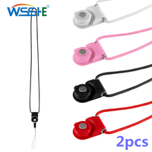 2pcs Mobile Phone Strap Neck Lanyard Detachable For GoPro Cell On ID Card Camera for Samsung Huawei