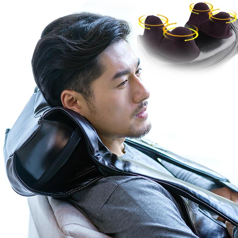 100v-240v Deep Kneading Heated Shiatsu Massager for Neck Back Shoulder Legs gua sha Masaje Electrodos Masajeador Acupressu