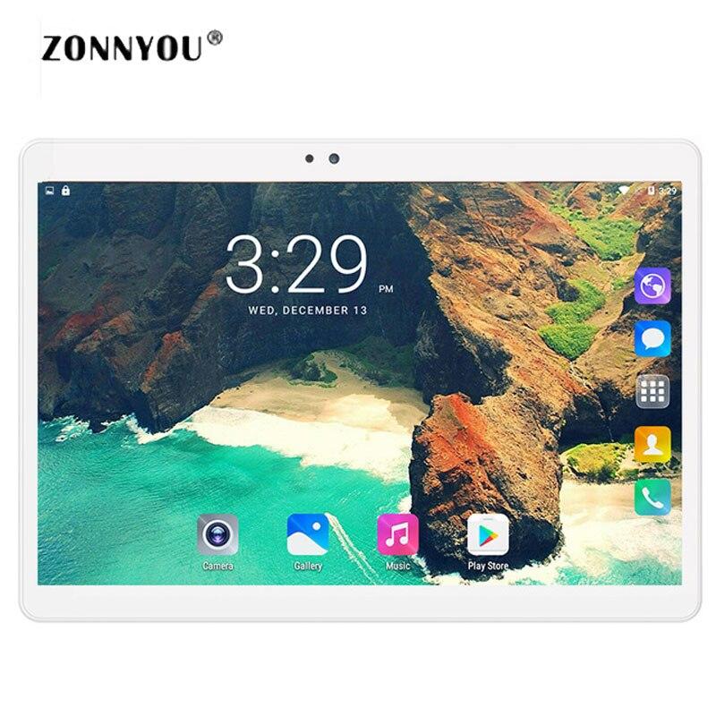 10.1 Tablet PC Android 7.0 Octa Core 3G Téléphone Appel Tablet PC 4 GB RAM 32 GB Double SIM Carte Wi-Fi Bluetooth Comprimés PC