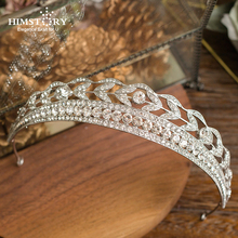 Elegance Crystal Bride Hair Accessory Wedding Wheat Tiaras and Crown Rhinestone Pageant Crowns Head Jewelry Hair Ornament цена