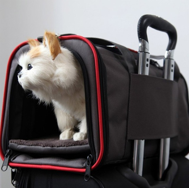 Portable Storage Pet Dog Carrier Bags Dog Cat Puppy Pet Travel Tote Shoulder Bag Cage Crate Gray Black 3