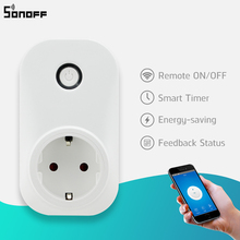 Sonoff S20 EU/UK/US Plug Wifi Power Socket, Wireless Remote Control Socket Outlet Timing Switch for Smart Home Automation цена 2017