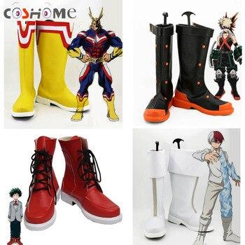 4c765254 Coshome Boku No héroe Academia Midoriya todo podría Shoto Todoroki Bakugou Cosplay  zapatos de mi héroe Academia botas