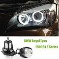 2 Pcs 6 W Auto LED Angel Eyes de Halo Anel Marcador Luz Lâmpada 12 V-24 V Cool White 6000 K Para BMW 325i 328i 335i E90 E91 Série 3