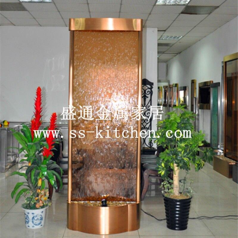 Высокотехнологичные фонтаны для воды светодиодный экран/занавес для воды стены/украшение дома/entryway/fasionable Золотой увлажнитель воды
