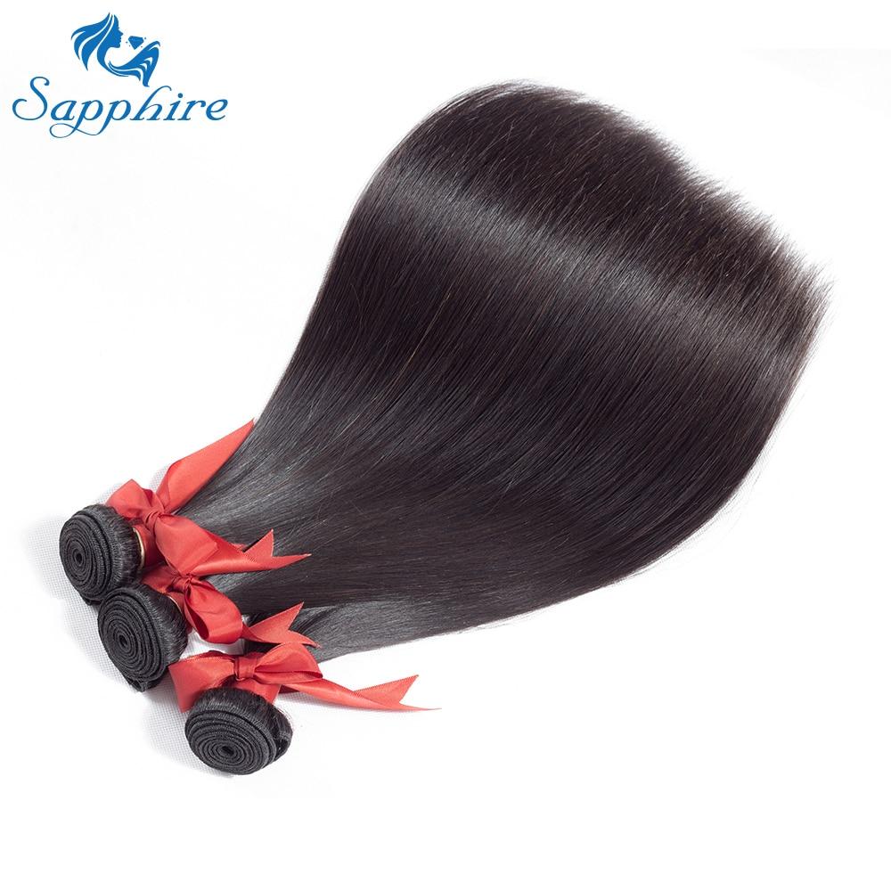 Safir brasilianska Straight Human Hair Bundles 100% Remy Hair Weave - Barbershop - Foto 4