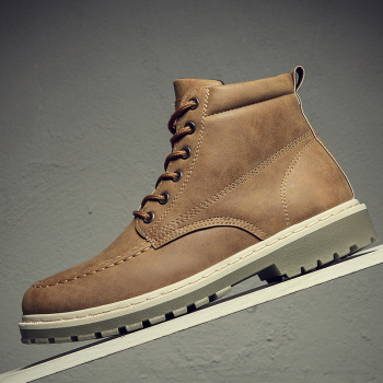 Men Shoes Male Boots High Top Boots Men Motorcycle Work Shoes Boots Men Pu Leather