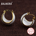 New Trendy Hot Sale 100% Real 925 Sterling Silver Jewelry Classic Moon Shape Clip Earrings Women Fashion 925 Jewelry SY31245