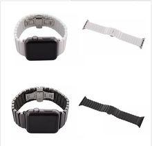 Nueva llegada enlace pulsera banda para apple watch banda de espacio de alta calidad correa de cerámica de color blanco y negro 38/42mm banda