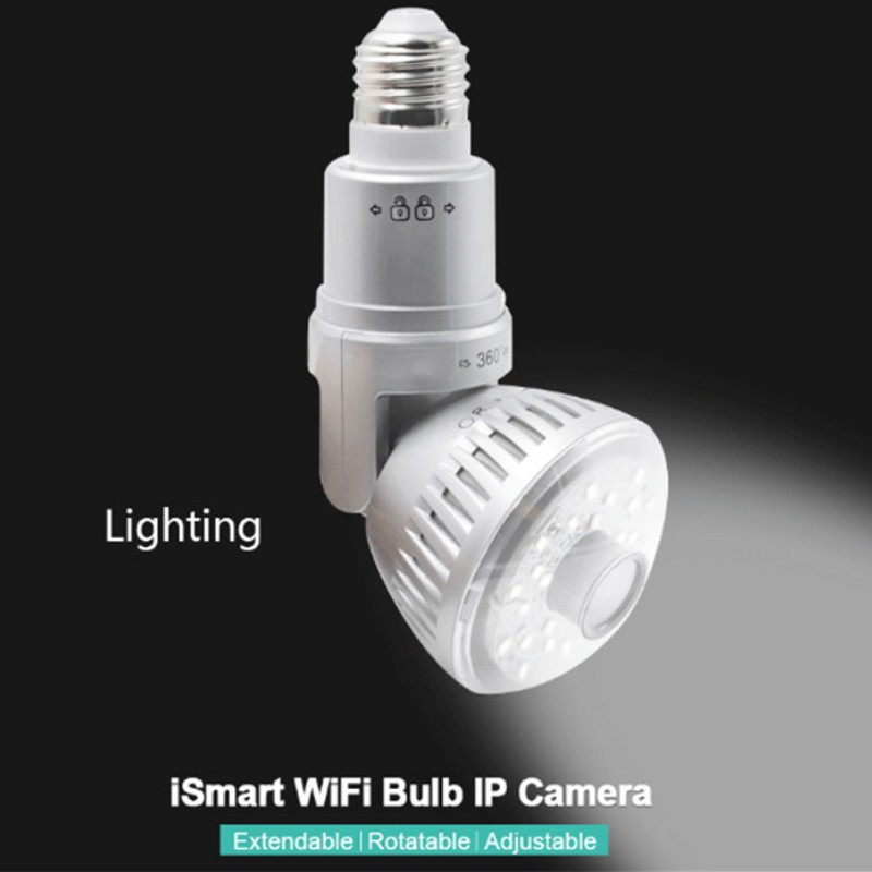 New Style Bulb Light Home Security Wifi IP Camera IB 175 Wireless P2P APP Remote Control CCTV Camera with Motion Detection