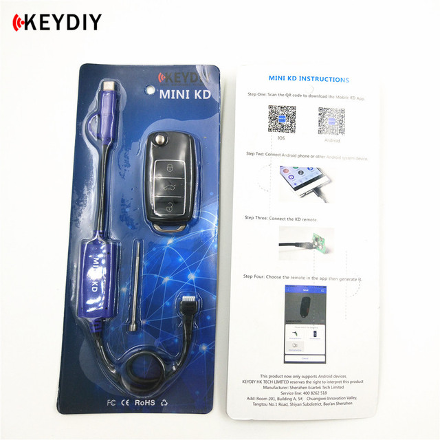 KEYDIY Mini KD Remote Key Maker Generator Warehouse in Your Phone Make More Than 1000 Auto Remotes