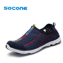 2017 6Colors Mens Shoes Breathable Mesh Women Aqua Shoes Walking Super Light Summer Women Slip On Shoes Men Water Beach Shoes