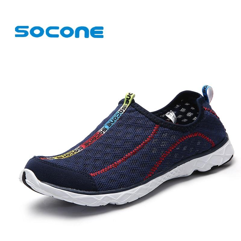 2017 6Colors Mens Shoes Breathable Mesh Women Aqua Shoes Walking Super Light Summer Women Slip On Shoes Men Water Beach Shoes