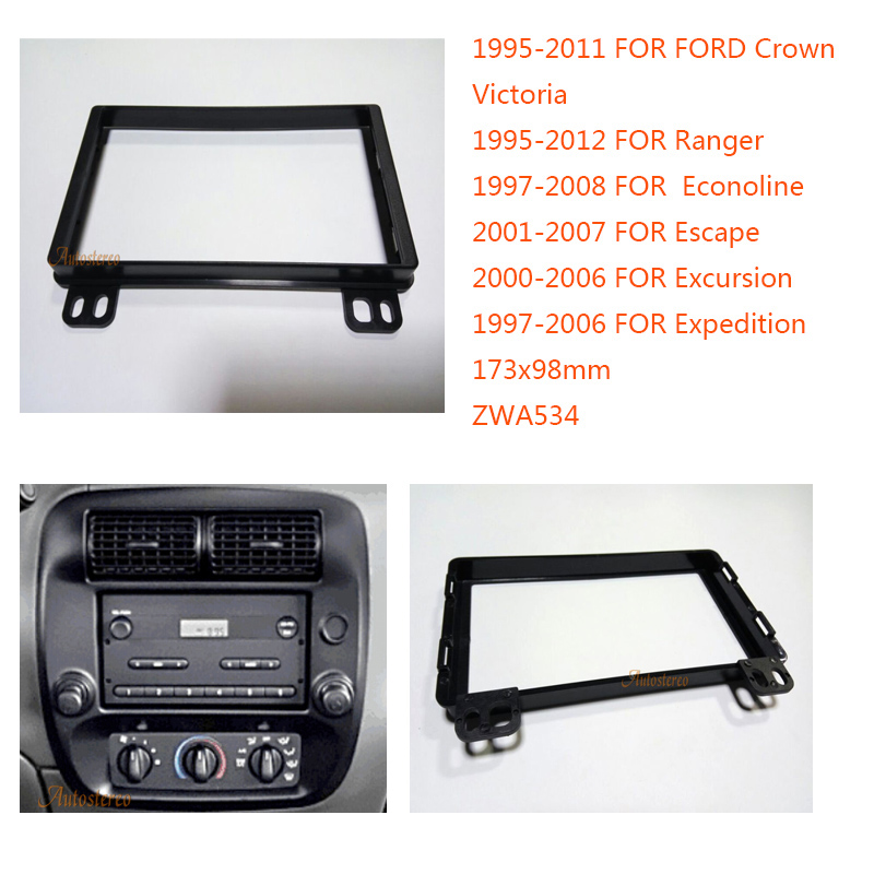 1998 2002 FORD CROWN VICTORIA DOUBLE DIN CAR STEREO KIT BLUETOOTH TOUCHSCREEN