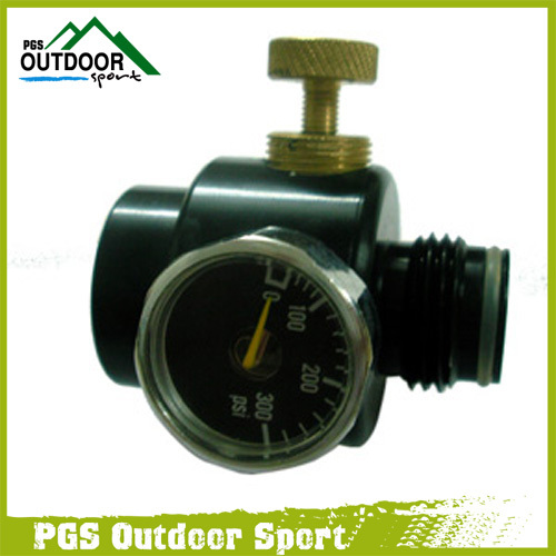 Paintball Regulator for Co2 & Komprimerer Air Pressure Control Indgangstryk 1000psi og Output Pressure 0-200psi