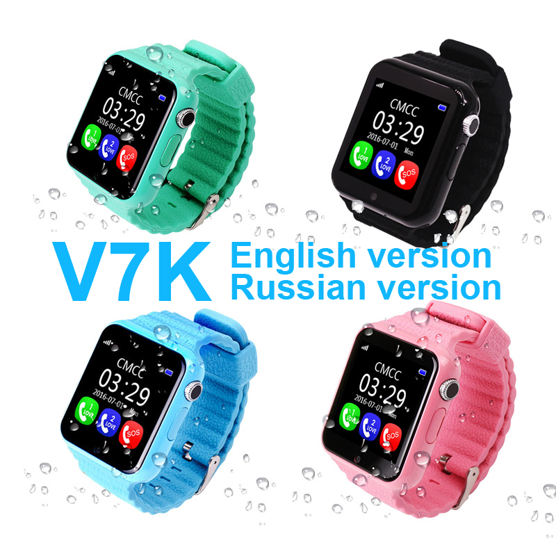 V7K Child 1 54 inch Touch Color Screen Smart Watch GPS LBS positioning waterproof SOS Camera