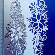 Flower Corner Craft Die 6X15.5cm Animal Christmas Metal Xmas Cutting Dies 3D DIY Scrapbooking Photo Frame Invitation Cards Decor