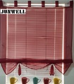 7 Colors Ribbon Roman Curtain Blind Home Wave European Tab Top Living Room Balcony Voile 1PC
