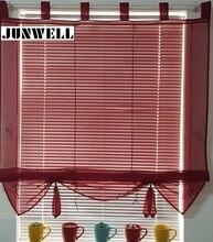 7 Farben Band Römischen Vorhang Blind Home Welle Europäischen Tab Top Wohnzimmer Balkon Voile 1 STÜCK