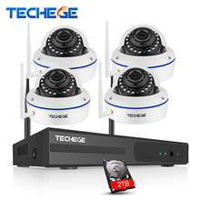 Techege 4CH Wireless NVR 960P CCTV WiFi System 1.3MP IR Outdoor indoor Vandalproof IP Camera Security Video Surveillance Kit