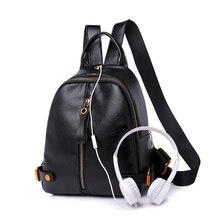 2018 New Fashion Backpack Women Backpacks Female PU Leather School Bags for Teenage Girls Women Bagpack Casual Style Mochilas