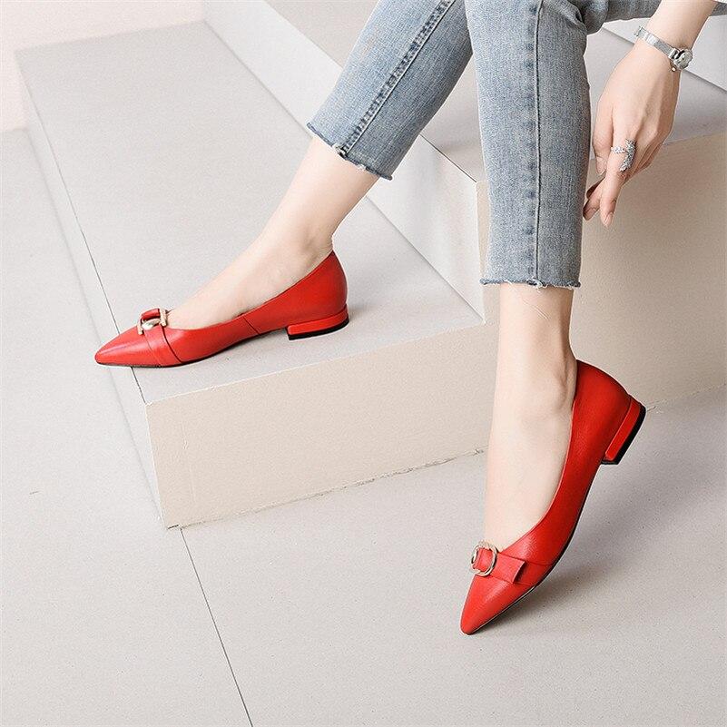 Cuadrados 1 De Hebilla Mujer Otoño Bombas Negro Oficina Conasco Puntiaguda Primavera Moda Tacones Metal rojo Señora Decoración Punta Zapatos Básicas f8nw7