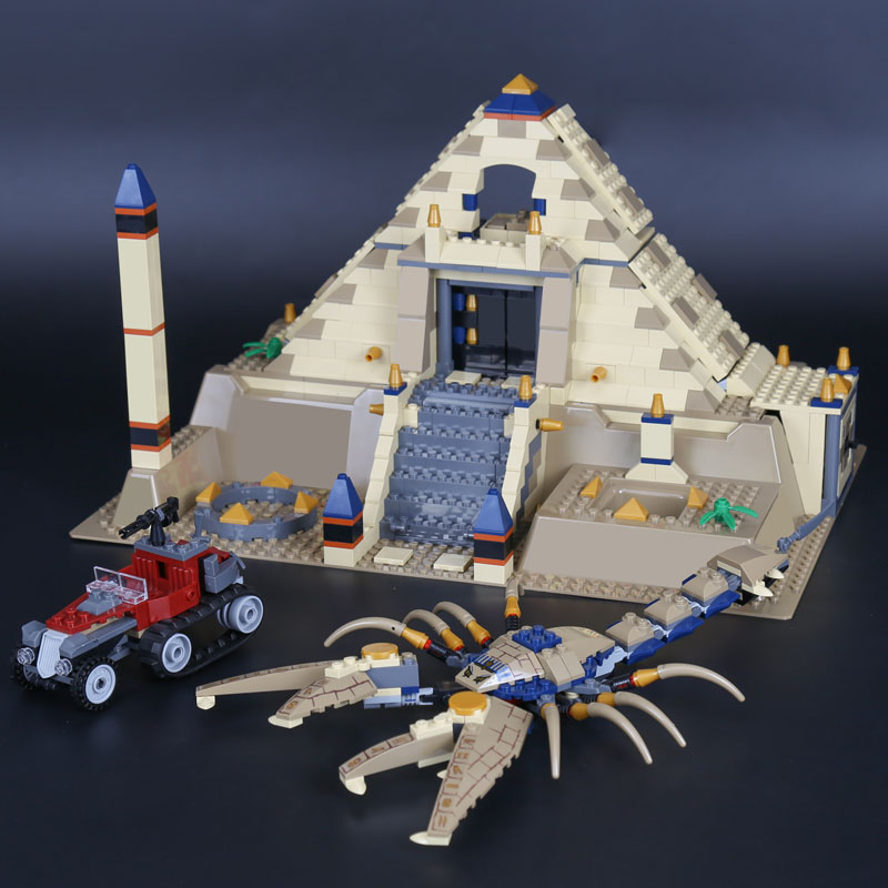 Lepin 31001 Egypt Pharaoh Series The Scorpion Pyramid Children Educational Building Blocks Bricks Toys Gift Model LegoINGys 7327 lepin 21012 builder the beatles yellow submarine with 21306 building blocks bricks policeman toys children educational gift toys