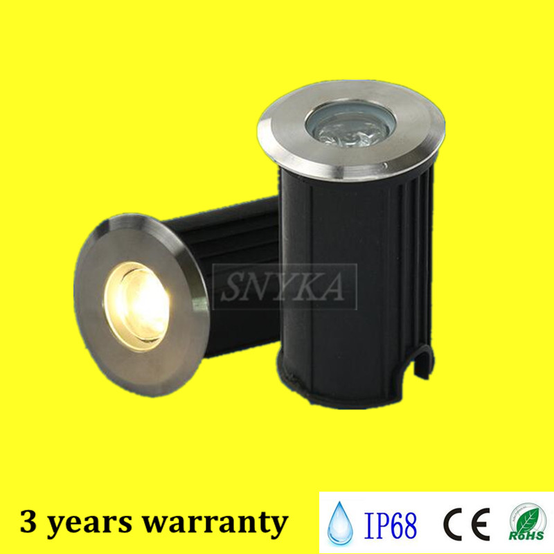 Led Lamps Lights & Lighting Free Shipping 3w Cree Chip Ce Rohs 85-265v/dc12v Recessed Lighting Outdoor Lamp Led Spot Floor Garden Yard Led Underground Light