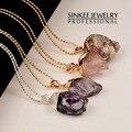 Venta superior Irregular de Cristal Colgante de Piedra Natural Collar Largo Para Las Mujeres Únicas de Joyería de La Marca de Venta Caliente My302