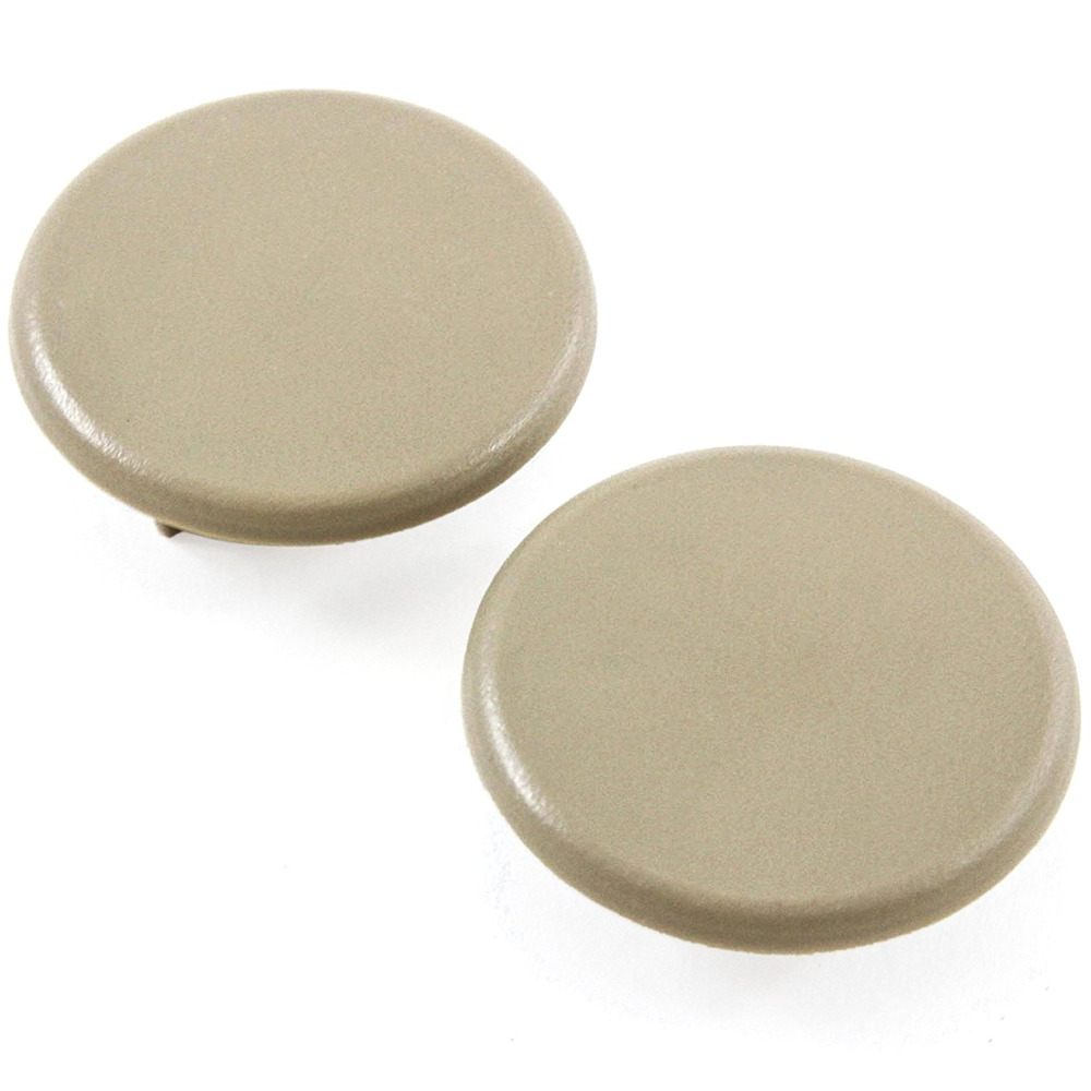 2PCS Beige Color Replacement Armrest Cap Cover For Chevy Tahoe Suburban GMC Yukon 2007-2017