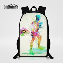 Dispalang Men S Casual Daily Daypacks Newly Design Ball Tennies Printing School Backpack For Age Boy Male