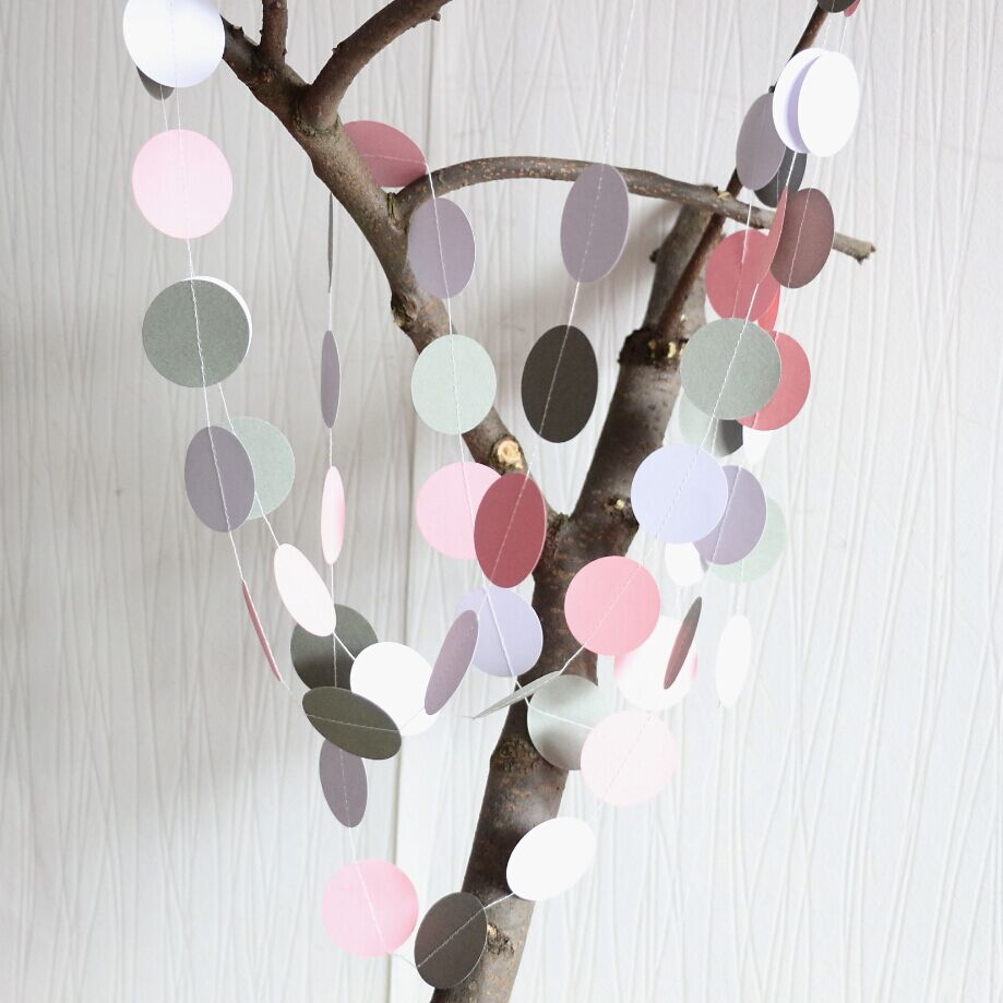 Online Shop 5pcs Pink And Gray Garland, Bridal Shower Garland, Baby Shower  Decorations, Nursery Decor / Elephant Theme Shower | Aliexpress Mobile
