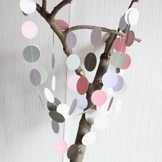 5pcs pink and gray garland bridal shower garland baby shower decorations nursery decor