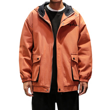 Spring Autumn High Quality Men New Casual Hooded Jackets Plus Size M-5XL Long Sleeve Multi Pockets Windbreakers Coat Male