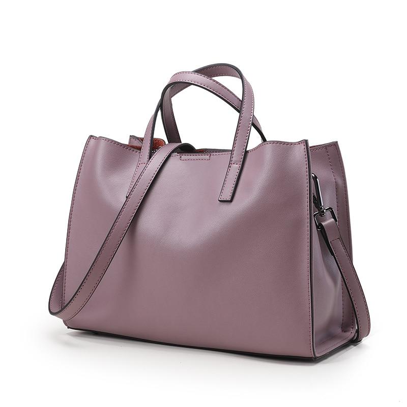 Real Genuine Leather Bags Women's Bucket Designer Handbags Shoulder Messenger Bags