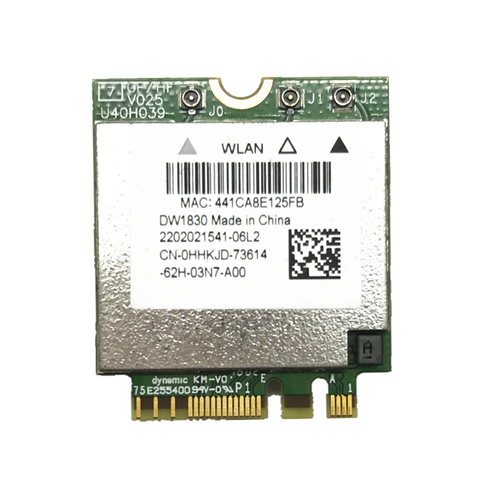 DW1830 BCM943602BAED BCM943602 NGFF M.2 AC 1300 Mbps Bluetooth 4.1 WiFi carte réseau sans fil
