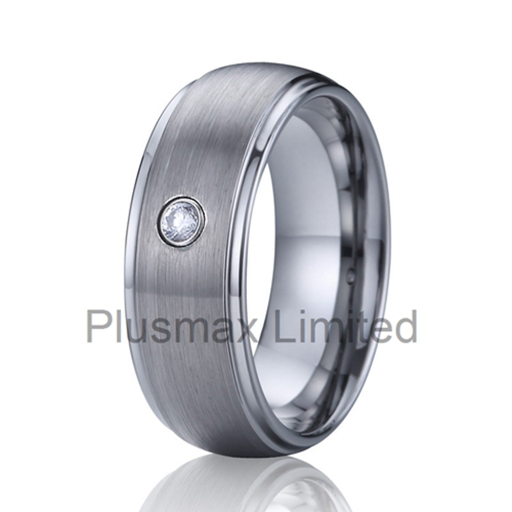 Cheap Never Fade Anti Scratches Tungsten Carbide Rings Mens Cz Diamond  Rings Wedding Bands Wholesale Anillos