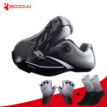 цена на Boodun Road Cycling Shoes Ultralight Racing Athletic Self-Locking Bike Shoes Men Women Professional Bicycle Sneakers zapatillas