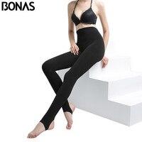 BONAS Heat Fiber Pantyhose Tights Women Winter Tights Female High Elastic Waist Soft Hosiery Stretch Warm